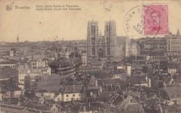 Brussel, Bruxelles, Eglise Sainte Gudule Et Panorama (pk45317) - Panoramische Zichten, Meerdere Zichten