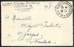 CM 140  Correspondance Militaire Du 20-07-16 Cachet Trésor Et Postes Simple Cercle N°(SP)129 29ème Division D'Infanterie - Marcofilie (Brieven)
