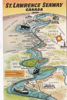 ST LAWRENCE SEAWAY, CANADA - Maps