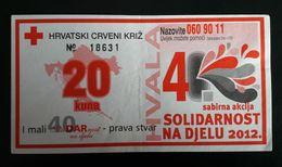 CROATIA 4 Kuna 2012  Red Cross Coupon - Croatie