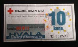 CROATIA 10 Kuna 2013  Red Cross Coupon - Croatie