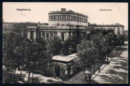 B2750 - Magdeburg - Theater Stadttheater - Cafe Conditorei - Rotes Kreuz Feldpost 1917 - Klautzsch - Magdeburg