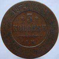 Russia 3 Kopeks 1874 - Russie