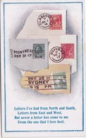STAMPS RELATED CARD - COMIC - Stamps (pictures)
