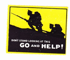 Vignette Militaire Période Delandre - Don't Stand Looking At This GO And HELP - Vignettes Militaires