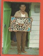 CPM GUYANNE FRANCAISE Ancien Bagnard Exibant Son Travail Papillons - 1978 - Flamme Peronne - Ed Dubois - Guyane
