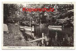 Gilgenburg Ca. 1930, Partie Im Schlossgarten - Ostpreussen