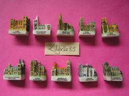 Série Complète De 10 Feves En Porcelaine Mate - LES CATHEDRALES DE FRANCE 2003 ( Feve Miniature ) - Regions