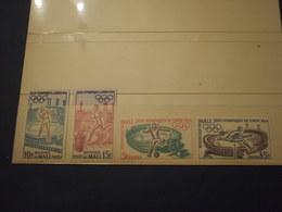 MALI - 1964 OLIMPIADI 4  VALORI- NUOVI(++) - Mali (1959-...)