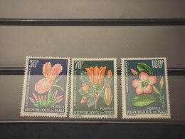 MALI - 1963 FIORI 3 VALORI- NUOVI(+) - Mali (1959-...)