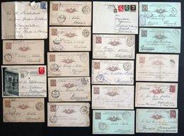 SAMMLUNGEN, LOTS 1883-1916, 18 Belege Nach Deutschland, Unterschiedliche Erhaltung - Italy