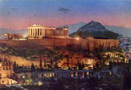Athen - Acropolis At Night-  Formato Grande Viaggiata – E 4 - Grecia