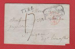 Lettre De Hamburg Pour St Aignan  --  24 Mai 1842 - Postmark Collection (Covers)