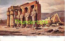 CPA EGYPT EGYPTE ILLUSTRATEUR F PERLBERG RAMESSEUM AT THEBES RAMSES - Autres