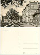 "AK Eisleben Lutherstadt, Schule Oberschule "" Fritz Heckert "", Geschäft, Menschen - Eisleben"