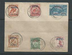 Aitutaki 1903 Overprint Simplified Set Of 6 Used 20 June 1907 On Plain Un-addressed Cover - Aitutaki