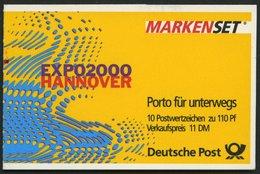 MARKENHEFTCHEN MH 39IImZ **, 1999, Markenheftchen Sehenswürdigkeiten, Type II, Mit Zählbalken, Pracht, Mi. 120.- - BRD