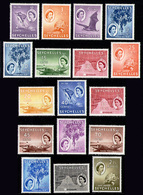 SEYCHELLES 1954 - Set Up To 2.25Rp MH* - Seychelles (...-1976)