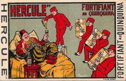 CPA Publicité Publicitaire Réclame Quinquina Hercule Sultan Non Circulé - Advertising