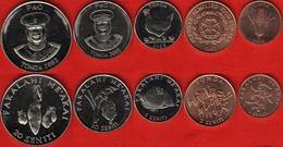 """Tonga Set Of 5 Coins: 1 - 20 Seniti 2002-2005 """"FAO"""" UNC - Tonga"""
