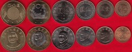 Taiwan Set Of 6 Coins: 1/2 - 50 Yuan 1981-2016 UNC - Taiwan