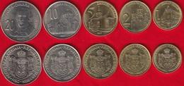 Serbia Set Of 5 Coins: 1 - 20 Dinara 2007 UNC - Serbie