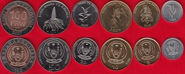 Rwanda Set Of 6 Coins: 1 - 100 Francs 2003-2011 XF-UNC - Rwanda