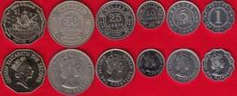 Belize Set Of 6 Coins: 1 Cent - 1 Dollar 1980-2010 - Belize