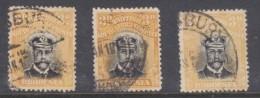 Sourthern Rhodesia, BSAC,  1913, Admiral, 3d, Die I, Perf 14, 3 Shades, Used - Southern Rhodesia (...-1964)