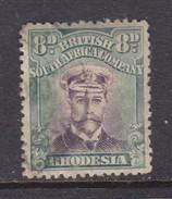 Rhodesia B.S.A.Co., 1913, Admiral, 8d Mauve & Dull Blue-green, Die III. Perf 14, Used - Southern Rhodesia (...-1964)