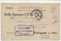 Militaria / 1914 / POW / Camp De Prisonniers De TORGAU A. ELBE / Kriegsgefangenenlager / GEPRÜFT +++ Gefangenenlager - Marcophilie (Lettres)