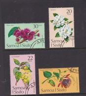 Samoa SG 440-443 1975 Tropical Flowers,used - Samoa