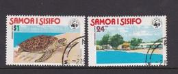 Samoa SG 506-507 1978 WWF  Hawksbill Turtle.used - Samoa