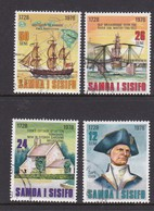 Samoa SG 512-515 1978 Capt James Cook 250th Birth Anniversary,used - Samoa