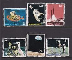 Samoa SG 544-549 1979 Moon Landing 10th Anniversary,used - Samoa