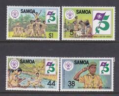 Samoa SG 620-623  1982 75th Anniversary Of Boy Scout Movement,mint Never Hinged - Samoa