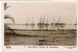 British Somaliland Real Photo Date Dhows Berbera  Cowasjee Dinshaw Berbera - Somalia