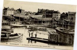 59 DUNKERQUE - Les Chantiers De Constructions Dans L'Arrière-Port - LL N° 86 - état LUXE - Dunkerque