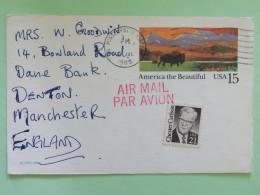 "USA 1989 Postcard """"Buffalo"""" Minneapolis To England - Chester Carlson - Etats-Unis"