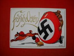 """""""SA Wünscht Fröhliche Ostern"""",Propagandakarte Mit SA-Mann U.Hakenkreuz-Osterei, Ungebraucht Top - Deutschland"""