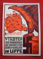 """""""Wahlsieg-Treffen In Lippe 1938"""",Propagandakarte Mit Adler U.Hakenkreuz, Ungebraucht Top - Deutschland"""