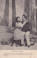 CPA Histoire D'amour, Marin, Voyage, Datée 1905 - Couples
