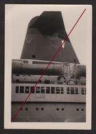 """Paquebot """" FRANCE """" _ Vue Sur Les Canots Et Cheminée_ Compagnie Générale Transatlantique _ French Line _ Photo Originale - Boats"""