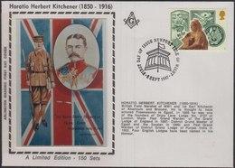 Horatio Herbert Kitchener, British Army Mason Freemasonry,  Masonic Cover  Great Britain - Franc-Maçonnerie