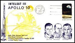 USA: 'Satellit Intelsat-3D & Apollo-10, 1969' / 'Communication Satellite In Space', Cape Canaveral - Briefe U. Dokumente