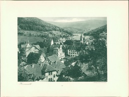 Kupfertiefdruck : Herrenalb. Forbach. - Estampes & Gravures