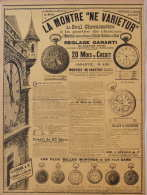 Les Meilleures Montres Du Monde - Montres Ne Varietur De Usines Suisses De La Suze - Page Original 1900 - Documents Historiques