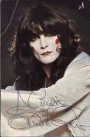 Autografo Renato Zero, Cantante, Su Cartolina Con Discografia - Autogramme & Autographen