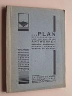 Plan ANTWERPEN ( Boek / Livre ) Met Plattegrond ( Platteau ) Anno 19?? - 160 Pag. ( Zie Foto's ) ! - Europe