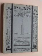Plan ANTWERPEN ( Boek / Livre ) Met Plattegrond ( Platteau ) Anno 1937 - 192 Pag. ( Zie Foto's ) ! - Europe